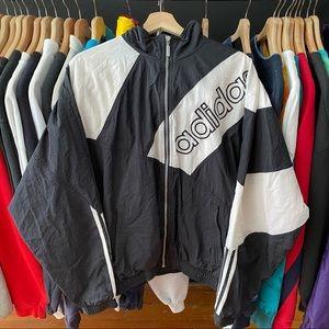 Vintage 90s Adidas Windbreaker Zip Up Jacket Mens